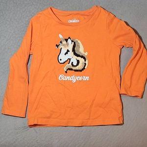 💚5/$20💚 Oshkosh Candycorn Unicorn Shirt